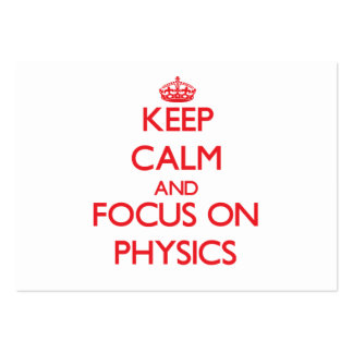 Keep Calm and focus on Physics Business Card Template