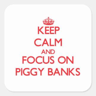 Keep Calm and focus on Piggy Banks Sticker