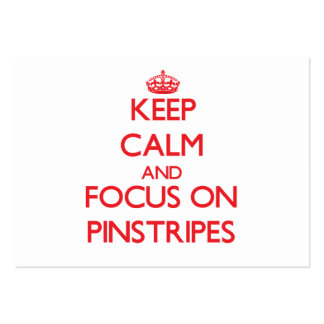 Keep Calm and focus on Pinstripes Business Card Template