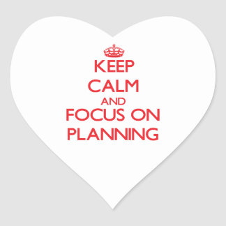 Keep Calm and focus on Planning Stickers