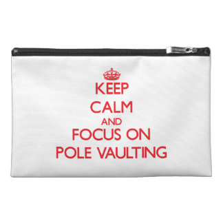 Keep Calm and focus on Pole Vaulting Travel Accessories Bags
