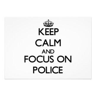 Keep Calm and focus on Police Custom Announcement