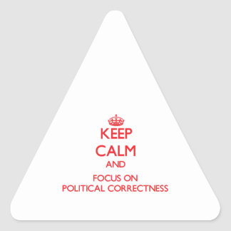 Keep Calm and focus on Political Correctness Triangle Sticker
