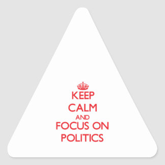 Keep Calm and focus on Politics Stickers