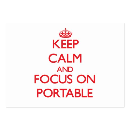 Keep Calm and focus on Portable Business Cards