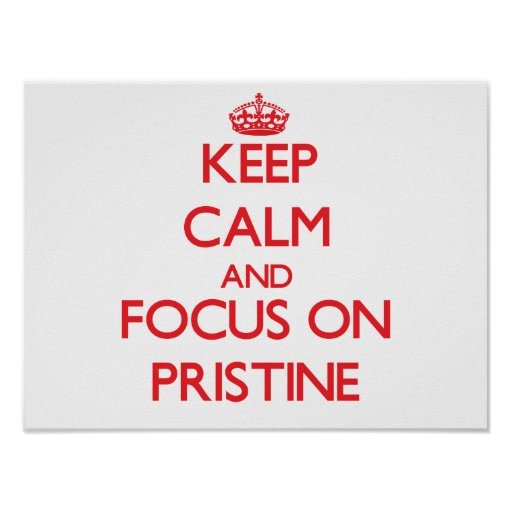 Keep Calm and focus on Pristine Poster