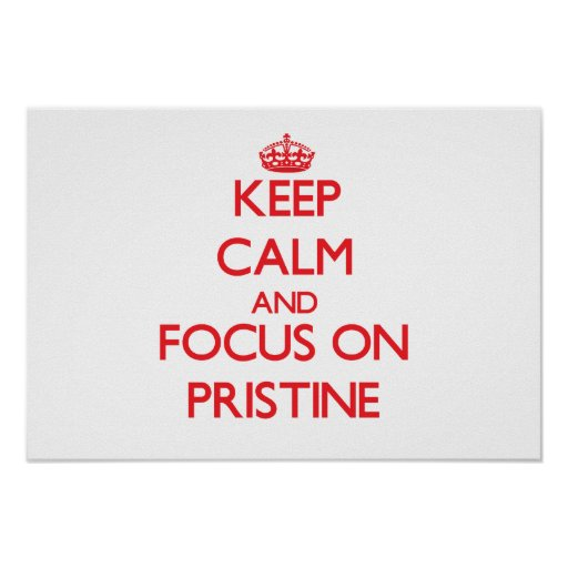 Keep Calm and focus on Pristine Posters