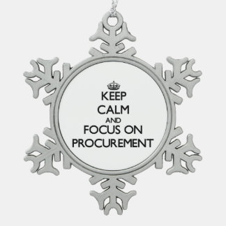 Keep Calm and focus on Procurement Ornament