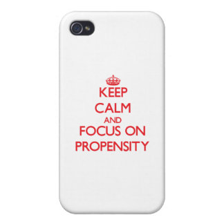 Keep Calm and focus on Propensity iPhone 4/4S Cases