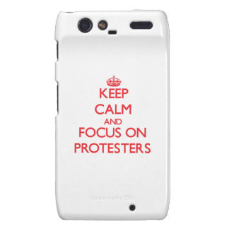 Keep Calm and focus on Protesters Motorola Droid RAZR Cover