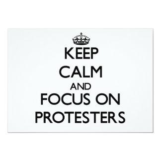 Keep Calm and focus on Protesters Custom Invitation