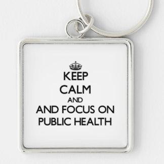 Keep calm and focus on Public Health Keychains