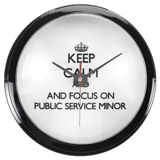 Keep calm and focus on Public Service Minor Aqua Clocks