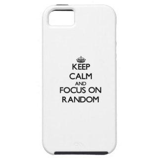 Keep Calm and focus on Random iPhone 5 Covers