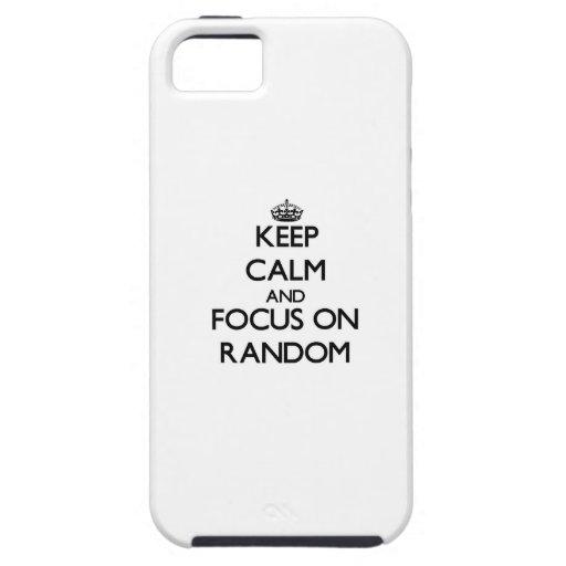 Keep Calm and focus on Random iPhone 5/5S Cases