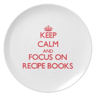 Keep Calm and focus on Recipe Books Plates