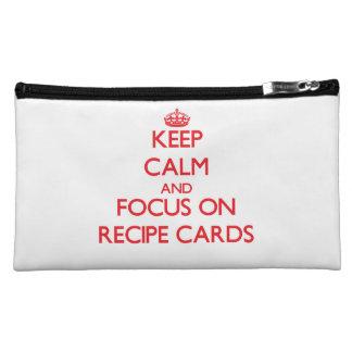 Keep Calm and focus on Recipe Cards Makeup Bag