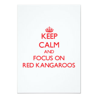 Keep calm and focus on Red Kangaroos Personalized Announcements