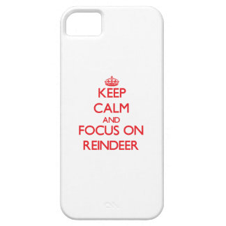 Keep calm and focus on Reindeer iPhone 5 Cases