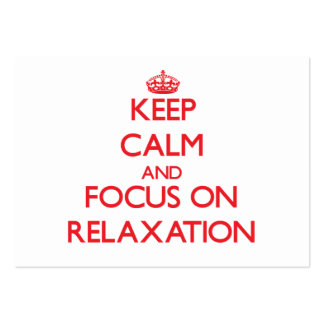 Keep Calm and focus on Relaxation Business Card Template