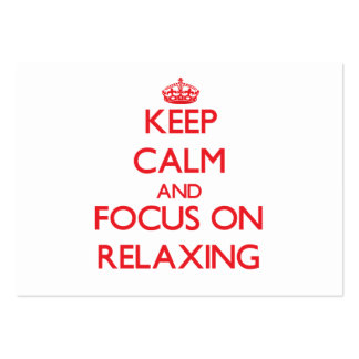 Keep Calm and focus on Relaxing Business Card Template