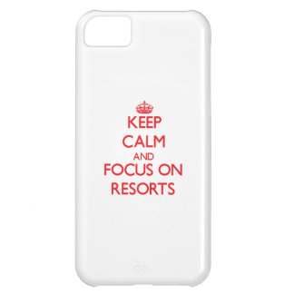 Keep Calm and focus on Resorts iPhone 5C Cases