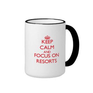 Keep Calm and focus on Resorts Mugs