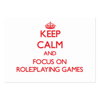Keep calm and focus on Role-Playing Games Business Card Templates