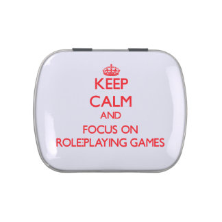 Keep calm and focus on Role-Playing Games Candy Tin
