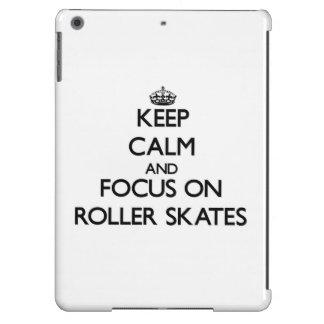 Keep Calm and focus on Roller Skates iPad Air Case