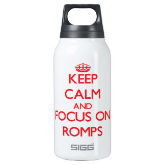 Keep Calm and focus on Romps 0.3L Insulated SIGG Thermos Water Bottle