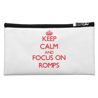 Keep Calm and focus on Romps Cosmetics Bags