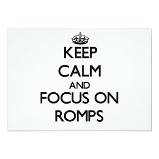 Keep Calm and focus on Romps Invitations