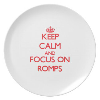 Keep Calm and focus on Romps Party Plates