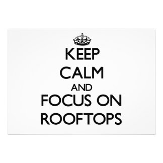Keep Calm and focus on Rooftops Card