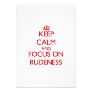 Keep Calm and focus on Rudeness Custom Invite