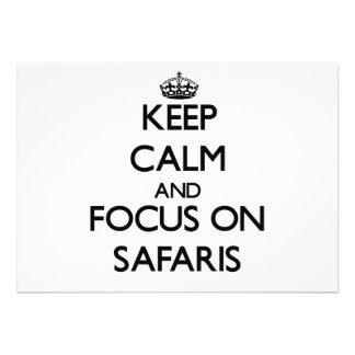 Keep Calm and focus on Safaris Card
