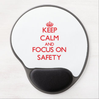 Keep Calm and focus on Safety Gel Mouse Mat