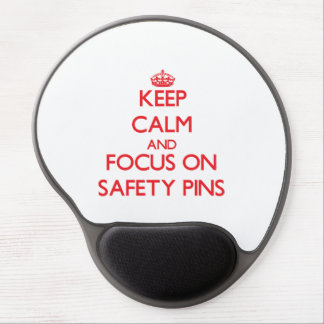 Keep Calm and focus on Safety Pins Gel Mousepads