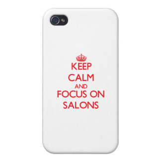 Keep Calm and focus on Salons iPhone 4/4S Cover