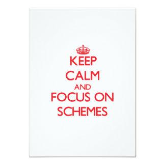 Keep Calm and focus on Schemes 13 Cm X 18 Cm Invitation Card