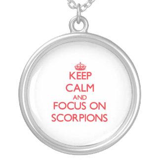 Keep Calm and focus on Scorpions Custom Jewelry