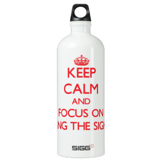 Keep Calm and focus on Seeing The Sights SIGG Traveller 1.0L Water Bottle