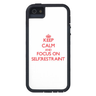Keep Calm and focus on Self-Restraint iPhone 5 Cover