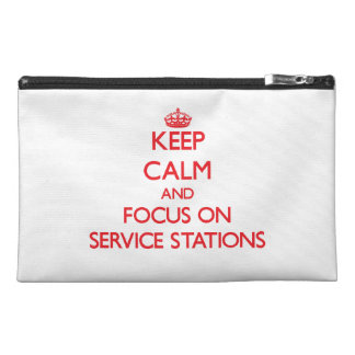 Keep Calm and focus on Service Stations Travel Accessories Bags