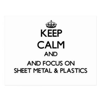 Keep calm and focus on Sheet Metal Plastics Postcard