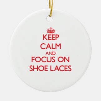 Keep Calm and focus on Shoe Laces Christmas Tree Ornament