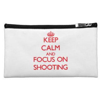 Keep Calm and focus on Shooting Makeup Bag