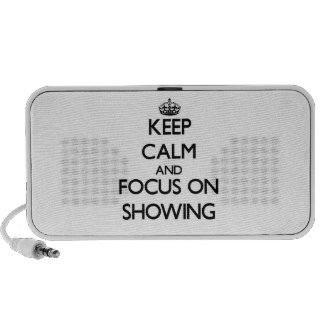Keep Calm and focus on Showing PC Speakers