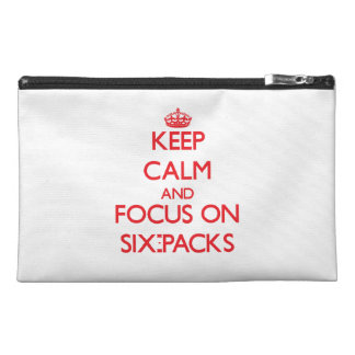 Keep Calm and focus on Six-Packs Travel Accessories Bags